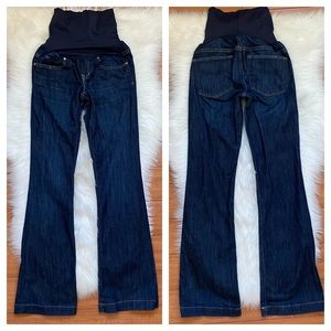GAP Dark Wash Maternity Full Panel Jeans Sz 0R 24